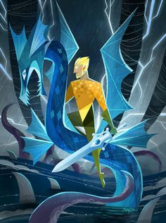 Here's Aquaman with she-ra's sword of power while...