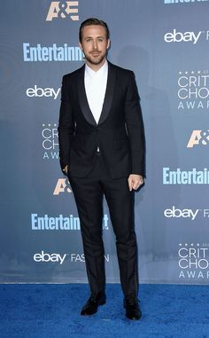 Ryan Gosling from 22nd Critics' Choice Awards Red Carpet Arrivals  We. Can't. Even. The actor made us googly-eyed in this sleek suit.