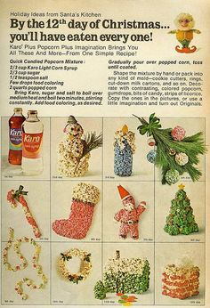 1968 Karo Corn Syrup - Popcorn ball recipe