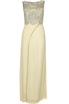 Cream sequins embroidered rose gown available only at Pernia's Pop Up Shop.