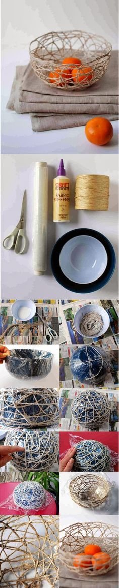DIY : How to make a string bowl
