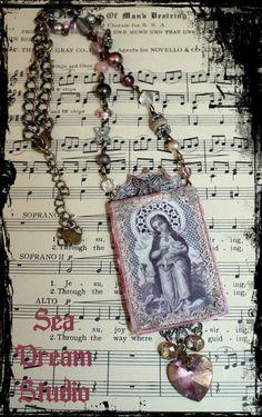 Sea Dream Studio Virgin Mary Pendant necklace ♥