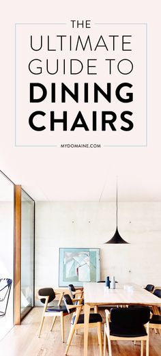 No matter your style, there are dining chairs in here for you