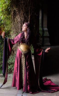 medieval LOTR  wedding dress and corset by Prior Attire