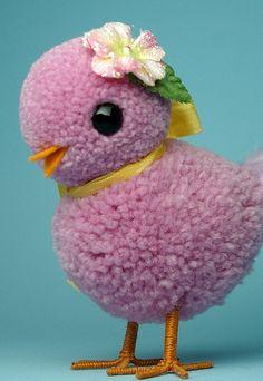 joli oiseau en pompon