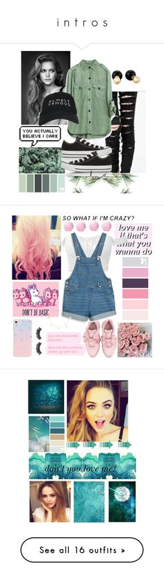 """i n t r o s"" by itsgracie18 ❤ liked on Polyvore featuring Converse, Betsey Johnson, Nasaseasons, Cotton Candy, Battington, Sonix, Puma, Monki, Mia Sarine and art"