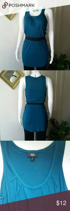 Belted Teal Tunic Tank Excellent condition Mossimo Supply Co Tops Tunics