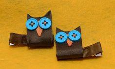 Owl hair clips