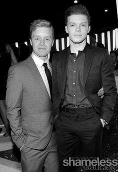 They look so cute together Noel Fisher and Cameron Monaghan.