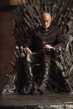 Lord Tywin Lannister: head of House Lannister, Lord of Casterly Rock, Warden of the West, Lord Paramount of the Westerlands, Hand of the King (on three occasions) & Protector of the Realm (S4, E6)