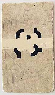 Eduardo Chillida (1924-2002) Argi 3, 1988. Etching with aquatint and embossing, printed on Segundo Santos paper. Etching size: 20.5cm H x 11.5cm W. Edition of 67 copies.