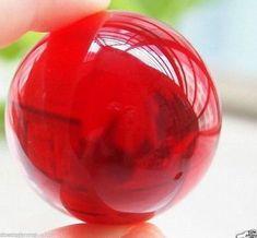 USA 40mm+Stand Asian Rare Natural Red Magic K9 Crystal Healing Ball Sphere