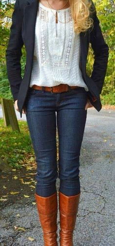 Botas jeans y saco