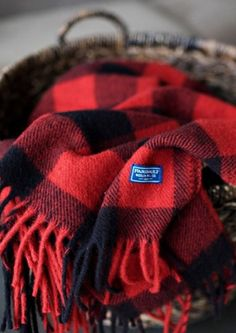 When Possible shop local! Faribault Woolen Mill blankets are right up there w/ Pendelton:) Buffalo Plaid Fringe Wool Throw - Heather Red/Black Tartan Plaid, Plaid Scarf, Black Plaid, Cozy Scarf, Black Wool, Winter Cabin, Cozy Winter, Cozy Cabin, Autumn Cozy