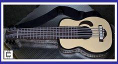 2D FONDANT GUITAR CAKE (Pastel en forma de guitarra)