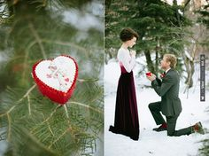 Magical Proposal in the snow!  photos by Ciara Richardson | CHECK OUT MORE IDEAS AT WEDDINGPINS.NET | #weddings #engagement #engaged #thequestion #events #forweddings
