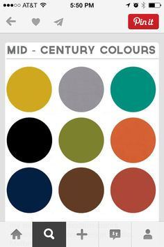 mid-century colors.