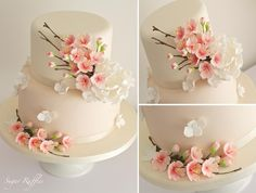 Cherry Blossom Cake- Super Cake Moms Collaboration