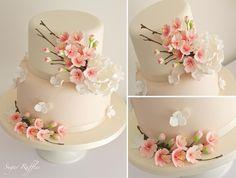 Cherry Blossom Cake- Super Cake Moms Collaboration