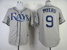 Rays #9 Wil Myers Grey Cool Base Embroidered MLB Jersey