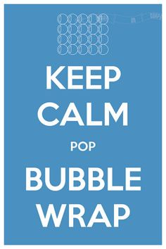 Keep Calm Pop Bubble Wrap 8 x 12 Keep Calm and by CarryOnCorps