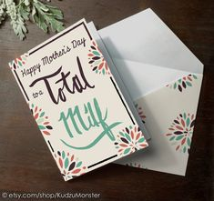 INSTANT DOWNLOAD Funny Mother's Day Card printable by KudzuMonster, $3.00 Total MILF
