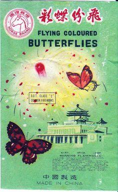 Horse Flying Coloured Butterflies firecrackers