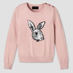 Make any outfit instantly more adorable with this Girls' Blush Bunny Sweater by Victoria Beckham for Target. The 3D bunny detail adds sweet texture, while the cozy knit construction keeps her comfy all day long. The Victoria Beckham collection for Target celebrates the shared experiences between Victoria and her daughter. The result is a look that's fashionable, yet free-spirited and timeless.