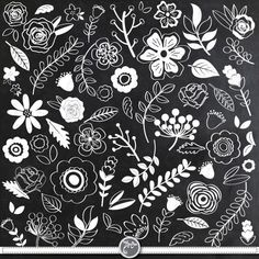 Chalkboard Wedding Floral ClipartCHALKBOARD WEDDING FLORALclip art,Vintage Flowers,Single Flowers, You will receive 67 beautifully rendered separate PNG files (transparent background) which were created at Chalkboard Clipart, Chalkboard Doodles, Chalkboard Drawings, Chalkboard Lettering, Chalkboard Designs, Chalkboard Ideas, Chalkboard Wedding, Simple Illustration, Vintage Clip Art