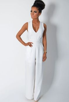 Awesome White Jumpsuit : Simple White Jumpsuit