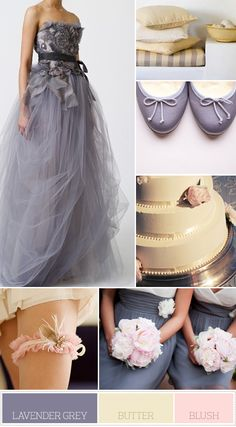 This website has beautiful color inspirations, fashions and stationary  too - love the lavender dress -- nice wedding