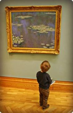 How To Paint Monet's Waterlillies With Children | TheBoyAndMe