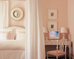 I would have this room in light blue. :)