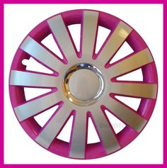 4x14   Wheel trims for VAUXHALL CORSA ASTRA AGILA COMBO PINK - SILVER full set
