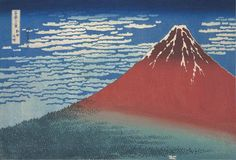 "'Mount Fuji at Dawn,' by Katsushika Hokusai (1760-1849) is part of the artist's series '36 Views of Mount Fuji' (1831-34). Works in Uragami's collection include 62 18th-century prints by renowned masters of Japan's ""golden age"" of ukiyo-e. Works at the exhibition include prints by Utagawa Hiroshige, Katsushika Hokusai, Kitagawa Utamaro and Toshusai Sharaku, and range from landscapes, portraits of beautiful women, kabuki actors and sumo wrestlers, to depictions of ghosts. - HAGI URAGAMI…"