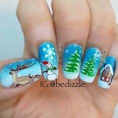 101 Cute Christmas Nail Designs for the Festive Season – BeautyFrizz Cute Christmas Nails, Xmas Nails, Christmas 2017, Christmas Time, Funky Nail Art, Funky Nails, Holiday Nail Art, Christmas Nail Art Designs, Really Cute Nails