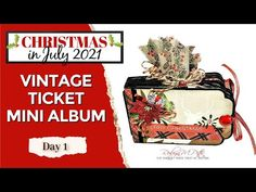 Christmas Mini Albums, Christmas Minis, Christmas In July, Christmas Projects, Ticket, The Creator, Cricut, Scrapbooking, Crafty