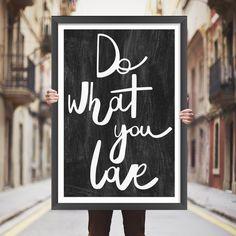 Placa decorativa do what you love - StickDecor | Decoração Criativa