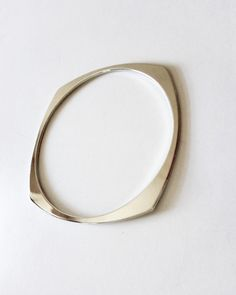 The Silver Four Square Bangle by JewelMint.com, $24.00