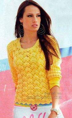 Patrón #1655: Blusa a Ganchillo #crochet  http://blgs.co/9Hh7zx