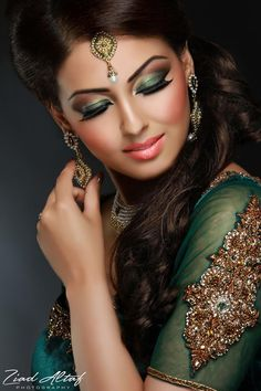 Makeup by Fareeha Khan. jewelry