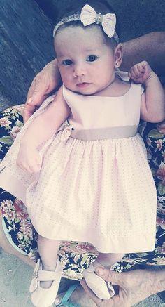 Vestido feito por mim,para minha filha de apenas 1 mês