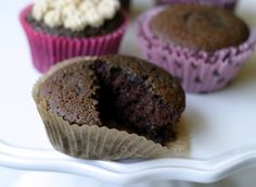 Chocolate Coconut Flour Cupcakes - These are super moist and a-maz-ing!!