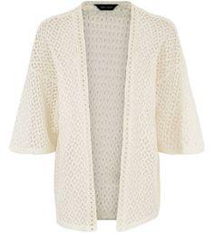 Cream Crochet Lightweight Kimono