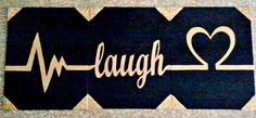 live laugh love; canvas painting; Navy Blue and Gold with glitter edges; canvas art