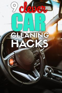 9 car cleaning hacks that will keep the interior of your car sparkling clean and organized! Easy car hacks you must try. Car Life Hacks, Car Hacks, Car Cleaning Hacks, Best Cleaning Products, Car Smell, Car Vacuum, Auto Detailing, Clean Your Car, Sparkling Clean