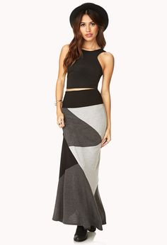#Forever21                #Skirt                    #Colorblocked #Maxi #Skirt                          Colorblocked Maxi Skirt                             http://www.seapai.com/product.aspx?PID=888182