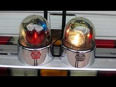 Antique Police Beacons | TWO FEDERAL SIGNAL BEACON RAY MODEL 175's FIRE TRUCK POLICE COP CAR ...