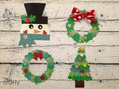 Decoraciones navideñas de papel con perforadoras