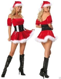 Helloween Party Suit Sexy Adult Christmas Eve Costumes Skirt Suits Miss Xmas Santa Cosplay Stage Costumes Women Costume Sexy, Cosplay Costume, Costume Dress, Sexy Christmas Outfit, Christmas Clothes, Christmas Dresses, Elf Kostüm, Lingerie Rouge, Babydoll Lingerie